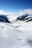 Aletsch Gletscher, die Schweiz Stockbild