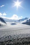 Aletsch Gletscher, die Schweiz Stockfotografie