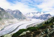 Aletsch-Gletscher-Eislandschaft Lizenzfreie Stockfotografie