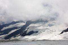 Aletsch-Gletscher in Jungfrau-Region Stockbild