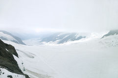 Aletsch-Gletscher in Jungfrau-Region Stockbilder