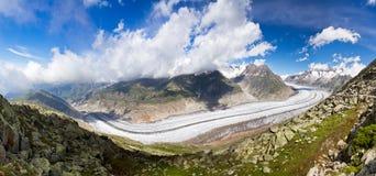 Aletsch Gletscher Panorama Stockfoto