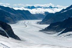 Aletsch Gletscher, Schweizer Alpen Lizenzfreies Stockfoto