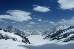 Aletsch Gletscher von jungfrau Stockbilder