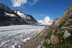 aletsch lodowiec Fotografia Stock