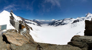 Aletsch panorama Royalty Free Stock Photos