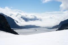 aletschglaciär switzerland Arkivbild