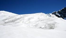 aletschglaciär switzerland Royaltyfri Bild