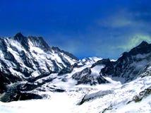 aletschglaciär switzerland Royaltyfri Fotografi