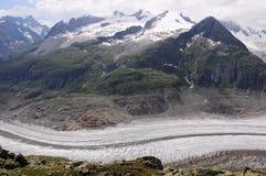 Aletschglacier. Die Schweiz. lizenzfreie stockfotos