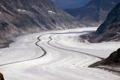 Aletschgletscher Alets冰川 免版税库存照片