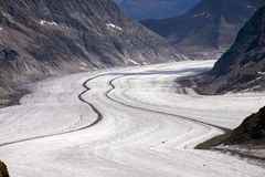 Aletschgletscher Alets-Gletscher Lizenzfreies Stockfoto