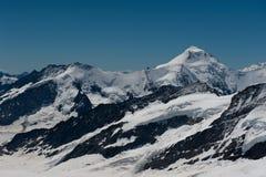Aletschhorn山顶  免版税库存图片