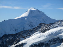 Aletschhorn. In the bernese oberland viewed from the ascent to mönch royalty free stock image