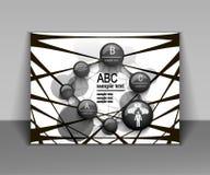 Aletta di filatoio astratta di affari, progettazione dell'opuscolo in bianco e nero illustrazione di stock