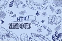 Aletta di filatoio d'annata del ristorante dei frutti di mare Immagine Stock Libera da Diritti