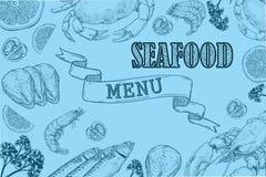 Aletta di filatoio d'annata del ristorante dei frutti di mare Fotografie Stock Libere da Diritti