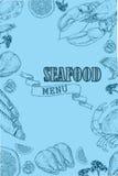 Aletta di filatoio d'annata del ristorante dei frutti di mare Fotografia Stock