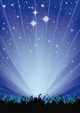 Aletta di filatoio del partito del cielo blu Immagini Stock