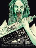 Aletta di filatoio del partito dello zombie royalty illustrazione gratis