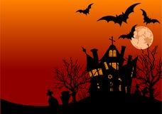 Aletta di filatoio della casa di Halloween Immagine Stock
