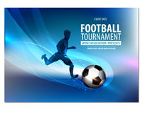 Aletta di filatoio di calcio, presentazione dell'opuscolo del manifesto Fotografie Stock Libere da Diritti