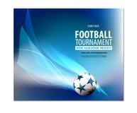 Aletta di filatoio di calcio, presentazione dell'opuscolo del manifesto Immagine Stock