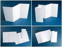 Aletta di filatoio di carta piegante bianca in bianco Fotografie Stock