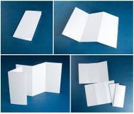 Aletta di filatoio di carta piegante bianca in bianco Immagine Stock
