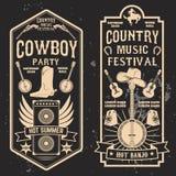 Aletta di filatoio di festival di musica country illustrazione vettoriale