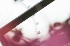 Aletta di filatoio di Singapore attraverso la finestra Fotografie Stock