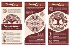Aletta di filatoio di stile celtico illustrazione vettoriale