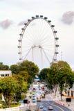 Aletta di filatoio Ferris Wheel di Singapore Fotografia Stock