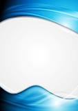 Aletta di filatoio luminosa di vettore con le onde blu illustrazione vettoriale
