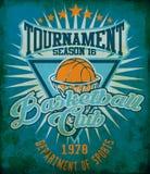 Aletta di filatoio o manifesto della lega di pallacanestro perfetto per il announc di pallacanestro Fotografie Stock