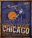 Aletta di filatoio o manifesto della lega di pallacanestro perfetto per il announc di pallacanestro Immagini Stock Libere da Diritti