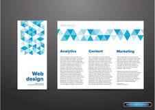Aletta di filatoio o opuscolo di web design illustrazione di stock