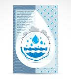 Aletta di filatoio di pubblicità della società di trattamento delle acque Circulat globale dell'acqua illustrazione vettoriale