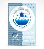 Aletta di filatoio di pubblicità della società di trattamento delle acque Circulat globale dell'acqua illustrazione di stock