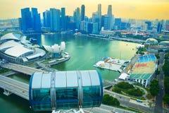 Aletta di filatoio di Singapore, orizzonte del centro del centro Fotografia Stock