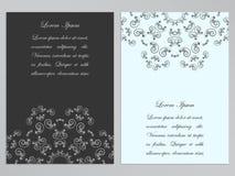 Alette di filatoio in bianco e nero con il modello floreale decorato Fotografie Stock Libere da Diritti