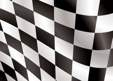 Alettone di bandierina Checkered Fotografie Stock