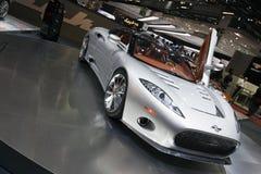 Alettone di Spyker C8 - salone dell'automobile 2009 di Ginevra Immagini Stock