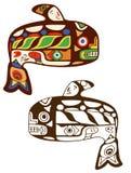 Aleut Whale illustration royalty free stock photos