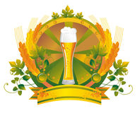 AleVignetteGreen. Beer glass in a vignette Stock Images