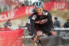 Alex Accetta - Masters Cyclocross Racer Royalty Free Stock Photo