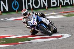 Alex Baldolini #25 en Suzuki GSX-R 600 NS Suriano Corse Supersport WSS Foto de archivo