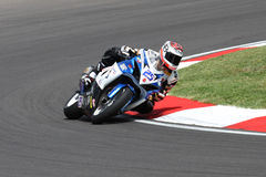 Alex Baldolini #25 su Suzuki GSX-R 600 NS Suriano Corse Supersport WSS immagine stock