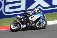 Alex Baldolini #25 su Suzuki GSX-R 600 NS Suriano Corse Supersport WSS fotografia stock libera da diritti