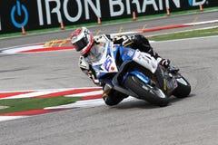 Alex Baldolini #25 su Suzuki GSX-R 600 NS Suriano Corse Supersport WSS immagine stock libera da diritti